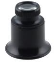 S40 Лупа глазная  12х, монокуляр для ювелиров, мастеров и для дома увеличительная лупа