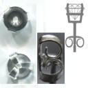 Застежка на серьги гвоздик 6 мм 0,20 грамм Серебро 925 пробы