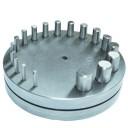 Вырубка дисков (18 пуансонов) 3-3,5-4-4,5-5-5,5-6-6,5-7-7,5-8-8,5-9-10-11-12-13-14 мм ( Польша )