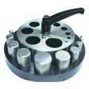 Вырубка дисков с зажимом (10 пуансонов) на каучуковой базе 3-6-9-12-16-19-22-25-29-32 мм ( Польша )