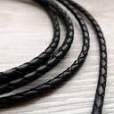 Шнур кожаный плетеный 3мм 1 сантиметр Цена указана за 1 сантиметр,