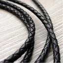 Шнур кожаный плетеный 4 мм 1 сантиметр Цена указана за 1 сантиметр,