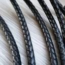 Шнур кожаный плетеный 5 мм 1 сантиметр Цена указана за 1 сантиметр,