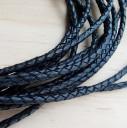 Шнур кожаный плетеный 3.5 мм 1 сантиметр Цена указана за 1 сантиметр,