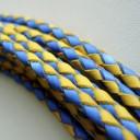 Шнур кожаный плетеный Украина 3мм 1 сантиметр Цена указана за 1 сантиметр, (copy)