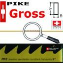Гросс.Пилки PIKE 8( Vallorbe  Switzerland ) А-0,50мм В-1,15мм . Цена указана за Гросс.(12 пучьков)