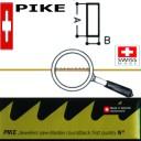 Пилки PIKE 8( Vallorbe  Switzerland ) А-0,5мм В-0,15мм . Цена указана за пучёк (12 штук)