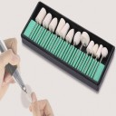 SJ-240 Набор для маникюра, педикюра.Войлок для полировки ногтей 13 предметов