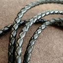 Шнур кожаный плетеный 4.0 мм . Цена указана за 1.3 метра